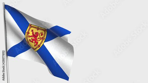 Obraz na płótnie Nova Scotia waving flag illustration on flagpole.