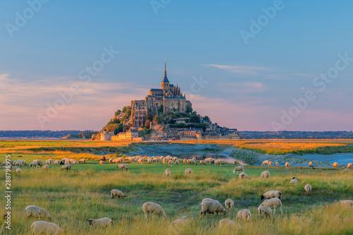 Wallpaper Mural Mont Saint-Michel in France
