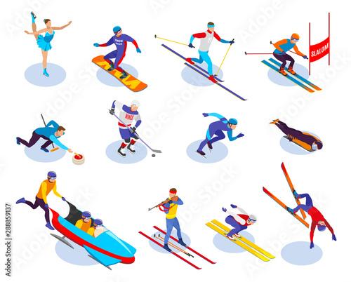 Winter Sports Isometric Icons Set Fototapete