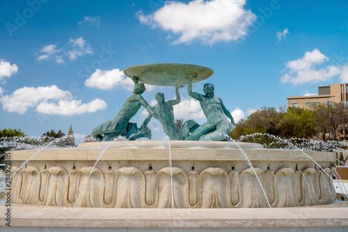 Malta, Valletta, Triton fountain Fototapeta