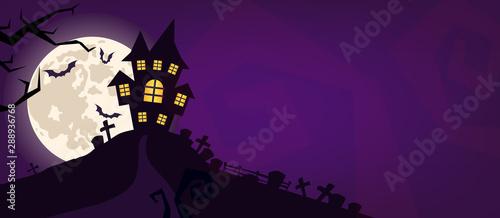 Fotografia Halloween scary vector background