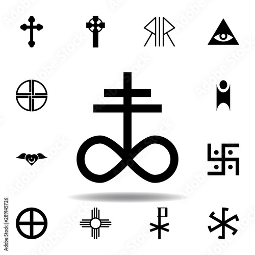 Photo religion symbol, satanic church icon