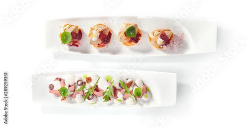 Fototapeta Appetizers assorti platter