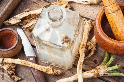 Alcoholic drink on horseradish Fototapet