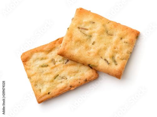 Fényképezés Garlic, rosemary and sea salt crackers