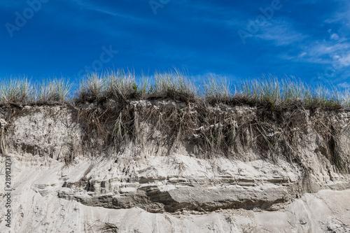 Fotografia, Obraz Dune erosion due to coastal storm damage, Chatham, Cape Cod, Massachusetts, USA