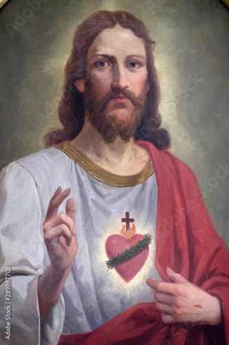 Sacred Heart of Jesus, altarpiece in the church of St Fototapet