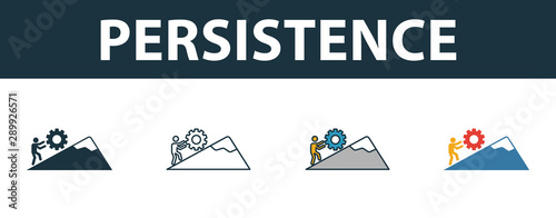Stampa su Tela Persistence icon set