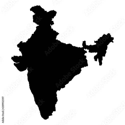 Canvas Print Map of India Vector illustration