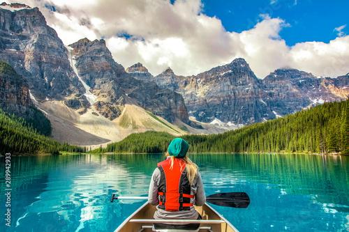 Canvas Print Moraine Lake Banff National Park Canada