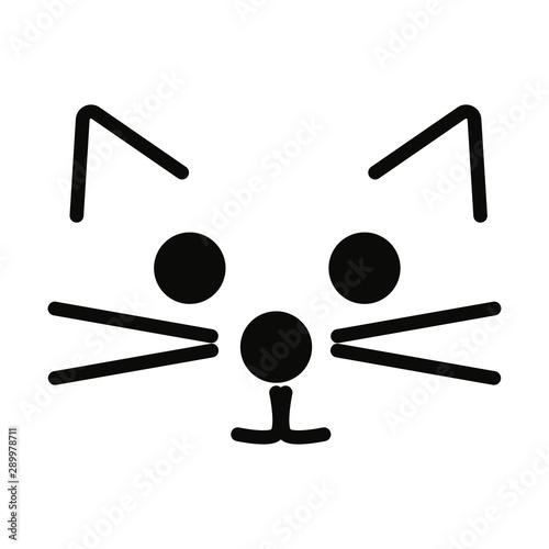 Cuadros en Lienzo Cat face vector illustration.