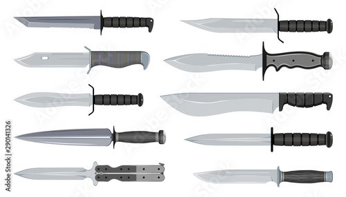 Canvas Types of Military Knives