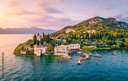 Fotografie, Obraz Punta San Vigilio, Verona province, Garda Lake, Veneto, Italy