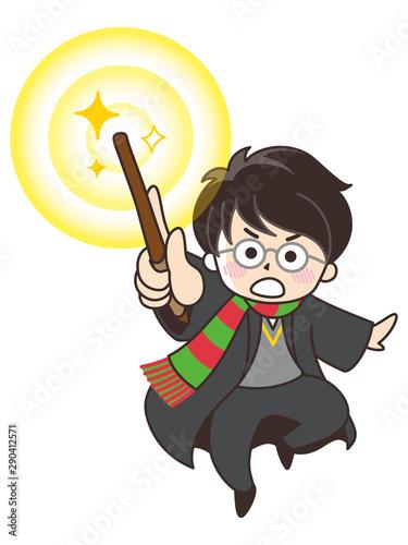 魔法使いの男の子 Fototapet