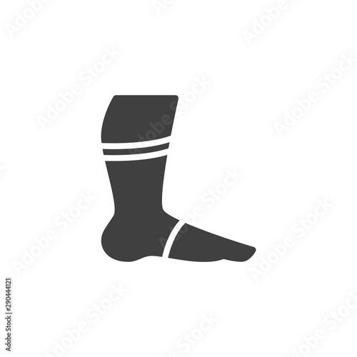 Tablou Canvas Leg with orthopedic bandage vector icon