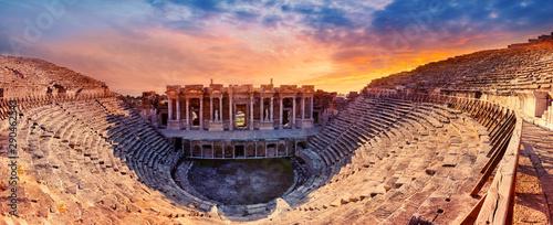 Billede på lærred Amphitheater in the ancient city of Hierapolis