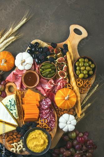 Fotografia, Obraz Autumn party charcuterie board