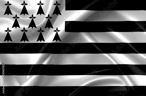 Foto flag of brittany