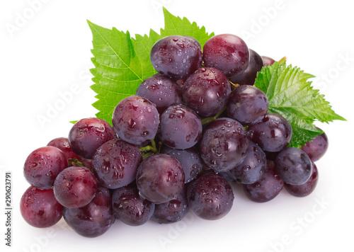 Valokuva Fresh grape on white background