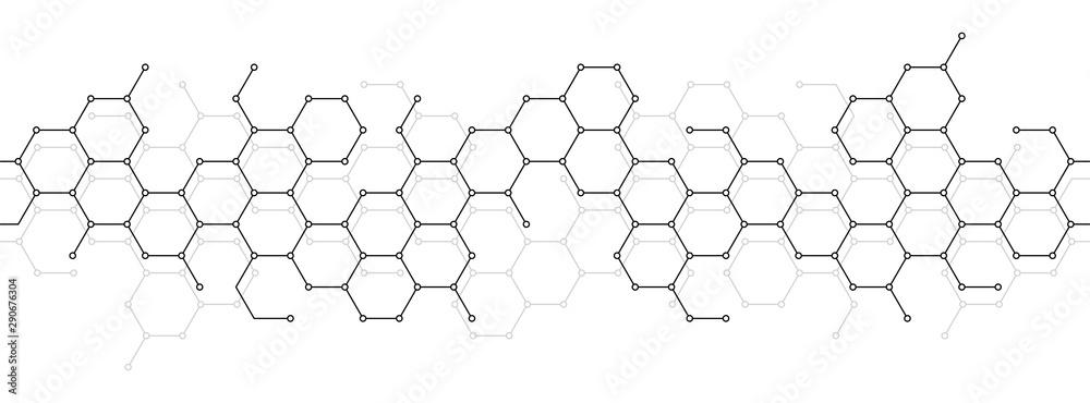 Tło techniczne o strukturze plastra miodu <span>plik: #290676304 | autor: Nikolay Zaburdaev</span>