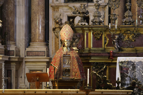 Stampa su Tela Naples, Italy - September 16, 2019: The Chapel of the Treasure of San Gennaro in