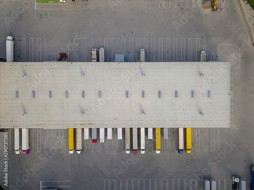 Aerial view of goods warehouse Fototapeta