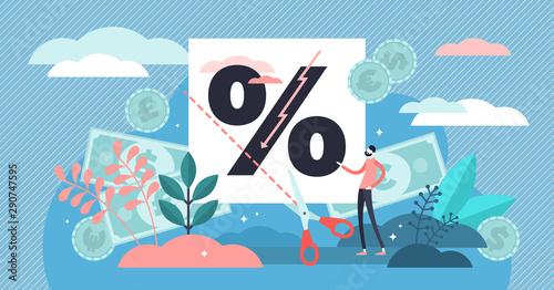 Carta da parati Rate cut vector illustration