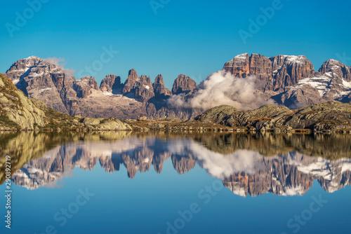 Canvas Print Lago Nero di Cornisello Brenta