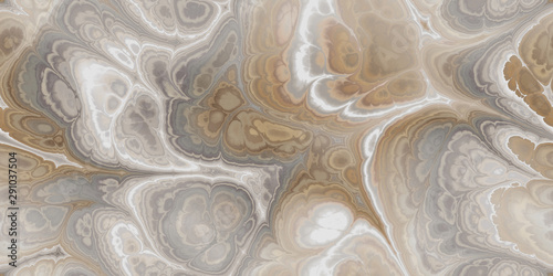 Wallpaper Mural gray brown and white marbleized seamless tile digital stone marble