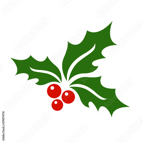 Stampa su Tela Mistletoe icon vector.