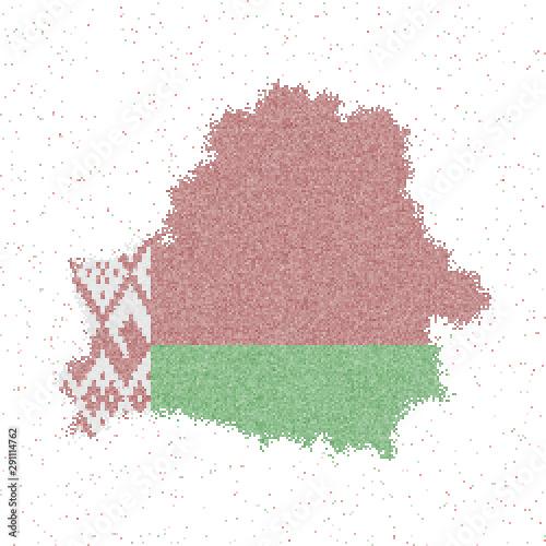 Canvas Print Map of Belarus
