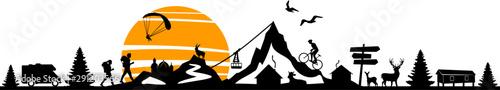 Nature Landscape Mountain Sport Vector