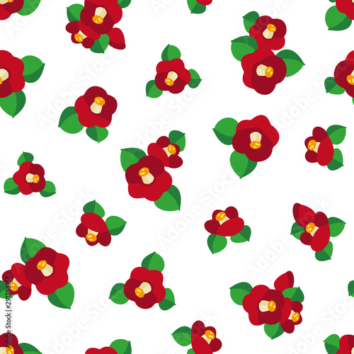 Photo Japanese style pattern of the camellia
