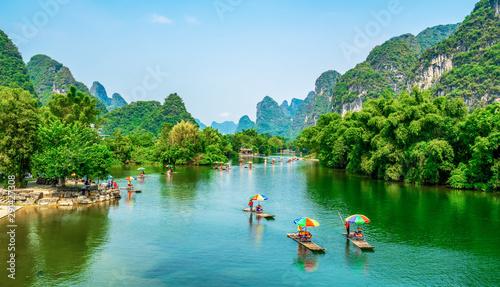 Fotografie, Obraz The Beautiful Landscape Scenery of Guilin, Guangxi