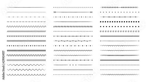 Fotografia Set of hand drawn vector line border