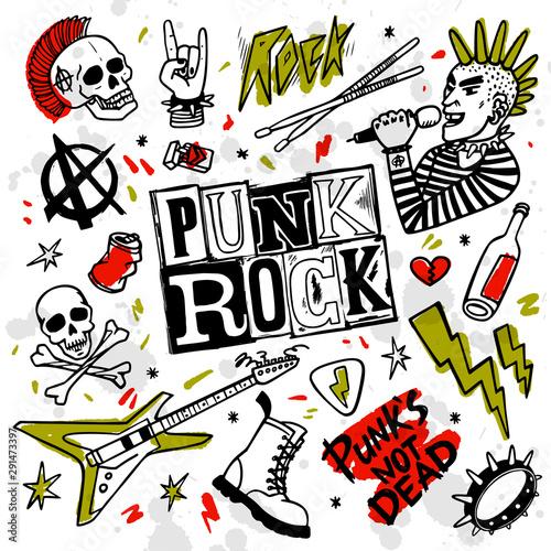 Obraz na plátně Punk rock set