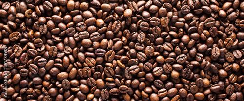 Obraz na plátne Coffee beans background