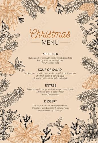 Fotografia Food restaurant cuisine menu template vector illustration