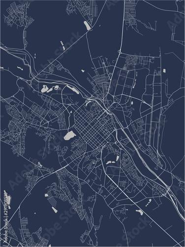 Canvas Print map of the city of Chisinau, Moldova