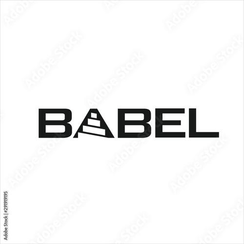 Babel Vector logo Fototapet