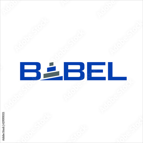 Babel Vector logo Tapéta, Fotótapéta
