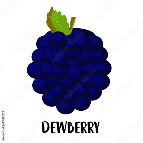 Canvas Print Illustration of cute staring dewberry mascot isolated on light background