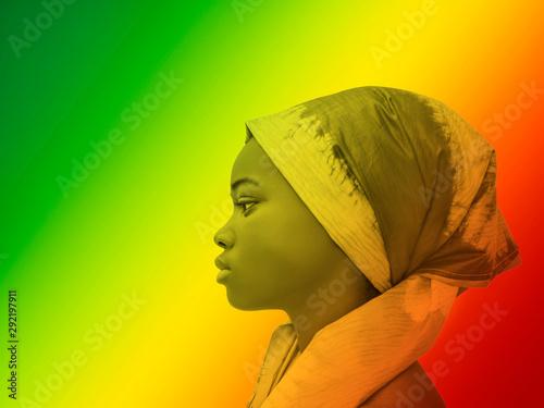Plakat Portret - kolorowy profil