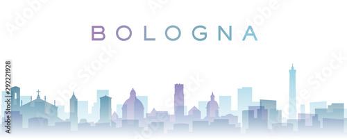 Obraz na plátně Bologna Transparent Layers Gradient Landmarks Skyline