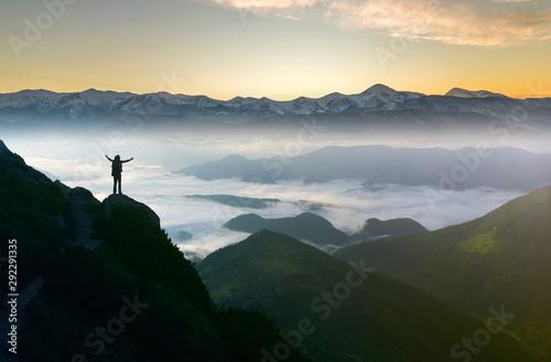 Valokuvatapetti Wide mountain panorama