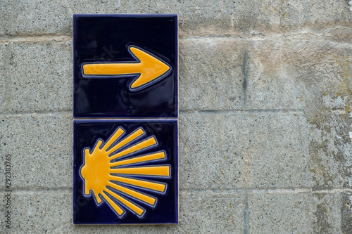 Photo ceramic tiles with insignia of the Way of St