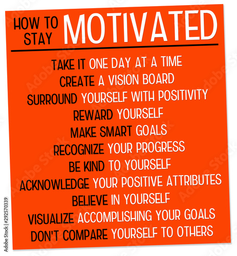 Fototapeta Stay motivated