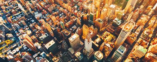 Widok z lotu ptaka Manhattan Nowy Jork od środka miasta