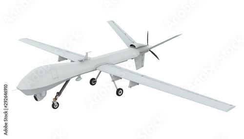 Fotografía Military Drone Isolated