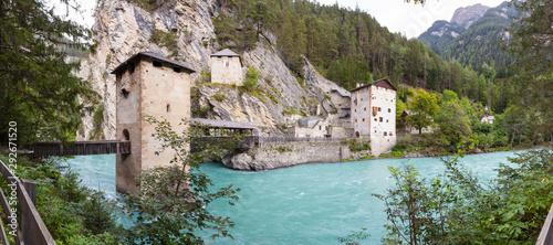 Obraz na plátne Panorama von Altfinstermünz, Nauders, Österreich